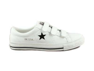 030fbc253605 CONVERSE ONE STAR VELCRO OX 1T921 WHITE BLACK sneakers shoes unisex ...