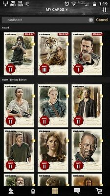 Topps Walking Dead Card Trader Cardboard waves 1-3 **with awards**