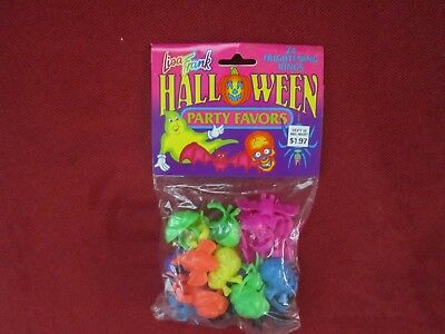 NEW - Vintage Lisa Frank Halloween Party Favors 24 Frightening Rings SEALED