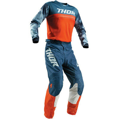 2019 Thor Mx Pulse Air Acid Red Orange/slate Jersey And Pant Combo *customized*