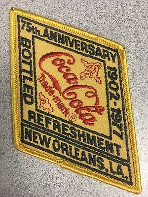 Vintage Coca-Cola 1902-1977 75th Anniversary Patch New Orleans LA new old stock