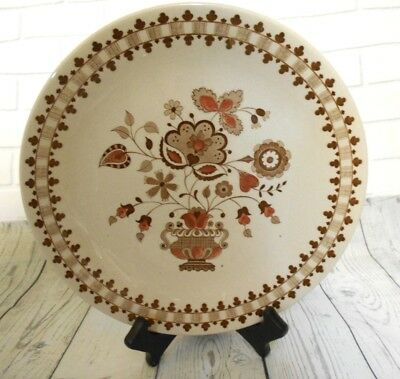 """Two Johnson Bros Old Granite Jamestown Brown 10"""" Dinner Plate Discontinued"""