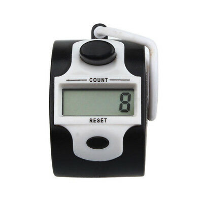 Mini 5 Digit Electronic LCD Display Digital Hand tally counter White W4Z7 vf