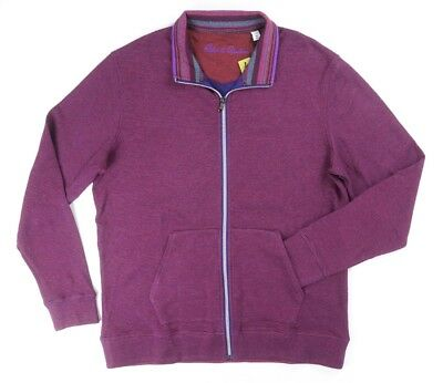 New Robert Graham Wine Red Full Zip Palmiro Classic Fit Knit Sweater Size M