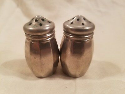 Small metal salt and pepper shakers