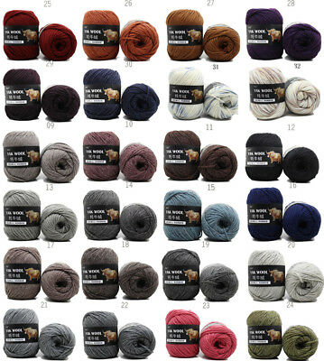 100g Ball quality Yak Knitting wool Cashmere Chunky Yarn Crochet soft Lot of