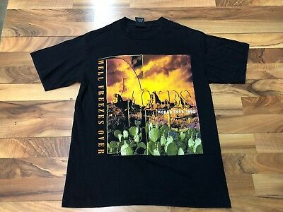 Vintage 1995 The Eagles HELL FREEZES OVER Concert Tour T Shirt GIANT Mens L USA