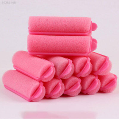Perfect 12PCS Vintage Magic Sponge Foam Hair Styling Rollers Curlers Tool