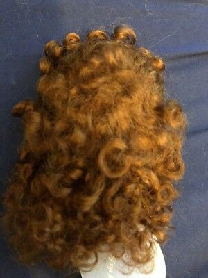 NEW DOLL WIG Size 8-9 Style Tessie Lt Auburn 100% Mohair By Global
