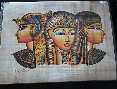 Ancient Egyptian Papyrus Hand Made Pictures, New, handmade, 15x11, pharohs