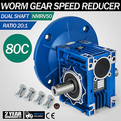 NMRV050 Worm Gear 20:1 80C Speed Reducer Gaerbox Dual Output Shaft Unique HQ