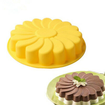Silicone Large Flower Cake Baking Pan Mould Chocolate Soap Candy Jelly Mold UK1