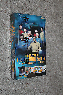Star Trek The Original Series 40th Anniv series 1, 2 auto/box, factory sealed