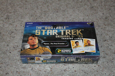 The Quotable Star Trek Original Series 40 packs sealed Box, 2 auto per box