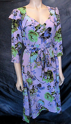 ASOS Maternity Vintage Retro 60's / 70s Styled Floral Dress - Size UK 14 - NWT!