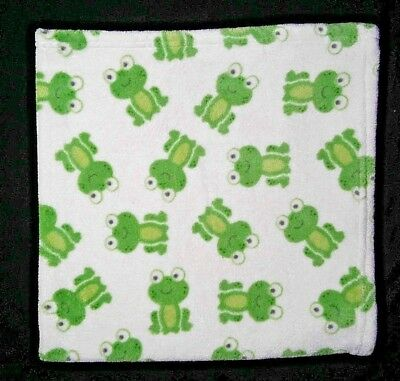 HTF CUPCAKE BABY Green Frog Security Blanket Lovey EUC -  14.95 ... 6279a274480b
