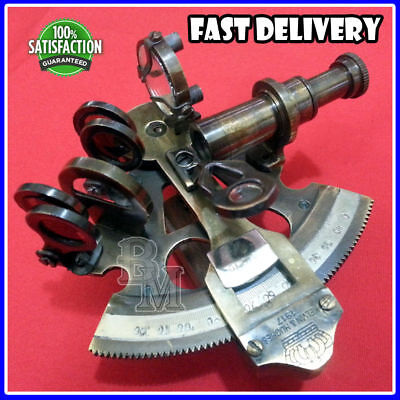 """Collectable Brass Nautical German Marine Sextant 3"""""""