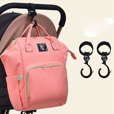 2pcs Buggy Hooks Large Pushchair Shopping Bag Hook Mum Pram Handy Carry Clips