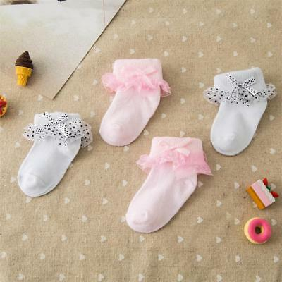 Cute Baby Girls Ankle Socks Sweet Princess Cotton Short Socks For 0-6months Kids