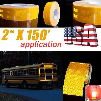 """2""""x150' Dot-C2 Reflective Conspicuity Tape Safety Trailer Truck Orange 1 Roll MY"""