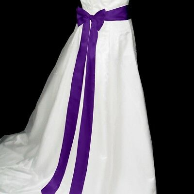 2*120 inch Double Faced Satin Ribbon Wedding Belt/Bridal Sash/Evening Dress Belt