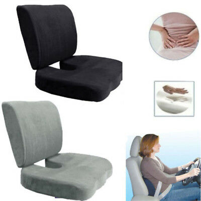Memory Foam Coccyx Orthoped Seat Cushion Back Support Lumbar Relief Pillow NW