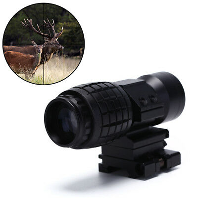 3X Magnifier Sight Scope 20mm Flip To Side Monta Fit Red Dot Sight Airsoft x