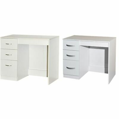 Hulio Riano Dressing Table Solid Wood High Gloss Bedroom Desk Storage White