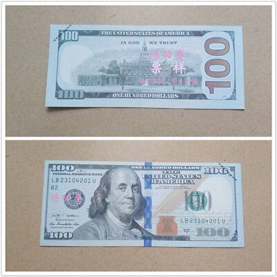 1pc USA Banknote100Dollar Fake Currency Bank Note Paper Game Practice Paper Fake