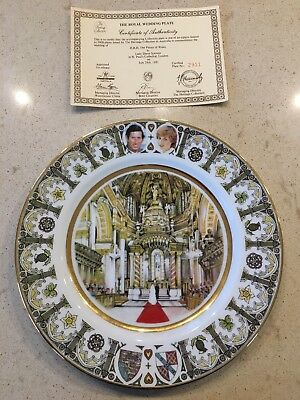 Prince Of Wales And Lady Diana Royal Wedding Commemorative Plate