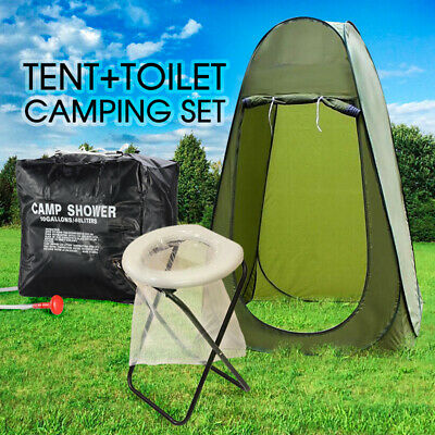 20L Portable Outdoor Camping Toilet Plus Shower Tent With FREE 40L Shower Bag