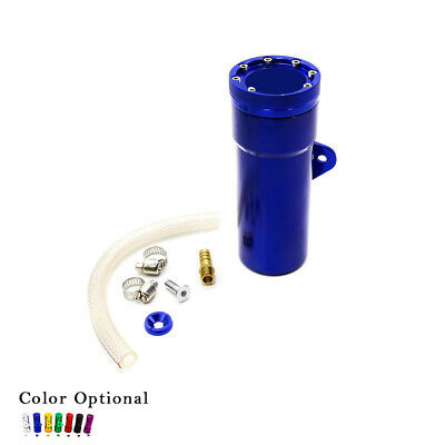 Motorcycle Oil Catch Tank Can Aluminum Fuel Coolant Reservoir Catch Tank Blue