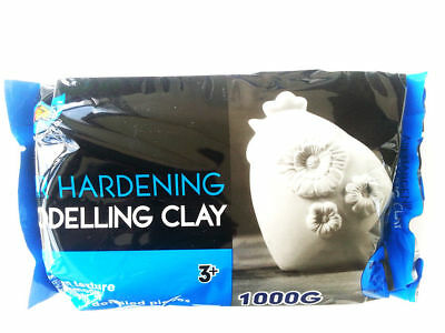 Artoys Air Hardening Modelling Clay - AIR DRY CLAY - White 1kg Craft Art (A0631)