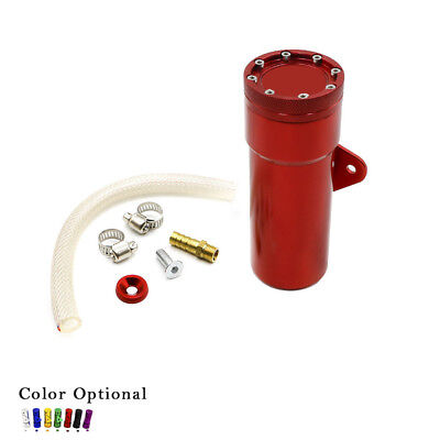 Motorcycle Oil Catch Tank Aluminum Coolant Reservoir Catch Fuel Can Tank Red