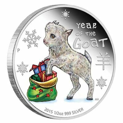 NEW Perth Mint - Baby Goat 2015 1/2oz Pure Silver Coin