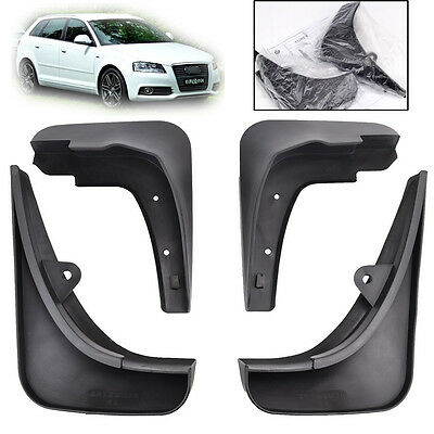 For Audi A3 2007-2013 Sportback Type 8P Mud Flaps Guards Splash Flare Front Rear