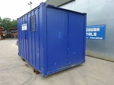 12 ft Long 8 ft Wide Blue Secure Generator Container / Power Cube Container - se