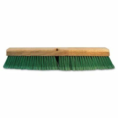 Push Broom Head, 3Quot; Green Flagged Recycled Pet Plastic, 24Quot;