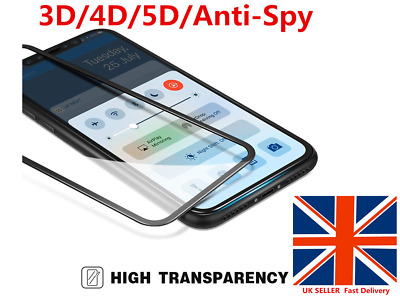 Full Cover Anti-Spy/3D/4D /5D Curved Tempered Glass Screen Film Fr iPhone X GH
