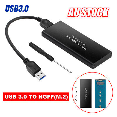 USB 3.0 to NGFF M.2 External SSD Drive Enclosure Case Adapter Converter Box TW