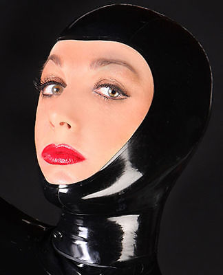 Unisex Sexy Latex Rubber Party Hood Mask Open Face Holiday Party Wear Unique