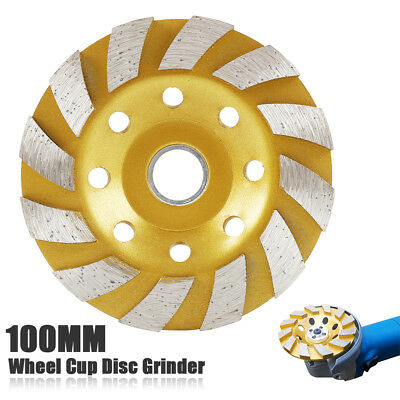 "4"" Diamond Segment Grinding Wheel Cup Disc Grinder Concrete Granite Stone Cut"