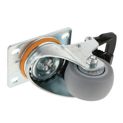 Stainless Steel Furniture Caster Heavy Duty Plastic Wheel with Brake
