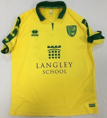 Official Norwich City Fc 2017-18 Youth Team Player Worn Langley Shirt