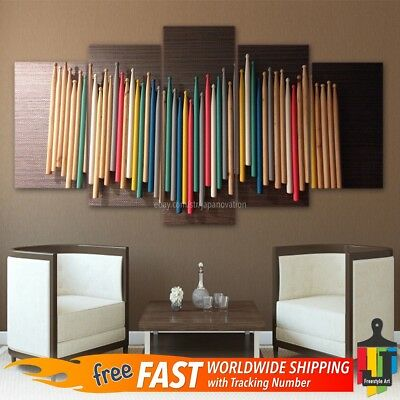 Colorful Drum Sticks Painting Modern Picture Poster Canvas Wall Art Home Decor