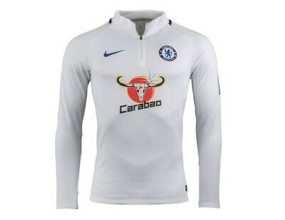 Nike Chelsea Training Squad Drill Top White New With Tags MEDIUM