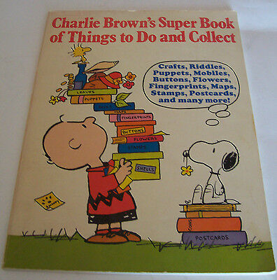 1975 Charlie Brown's Super Book Of Things To Do And Collect - Random House