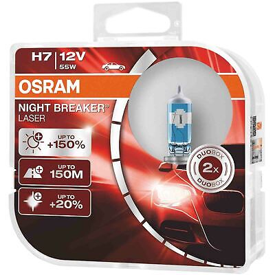 OSRAM Night Breaker Laser (Next Generation) +150% H7 Car Headlight Bulbs (Twin)