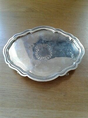 Antique Georgian Solid Sterling Silver Oval Salva London 1799