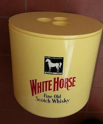 Vintage Ice Bucket  WHITE HORSE FINE OLD SCOTCH WHISKEY Crayonne